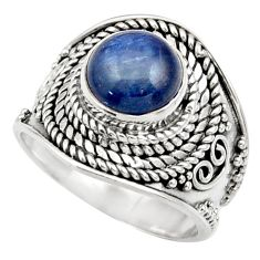 Clearance Sale- 3.02cts natural blue kyanite 925 sterling silver solitaire ring size 6 d36055
