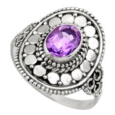 Clearance Sale- 2.11cts natural purple amethyst 925 silver solitaire ring jewelry size 9 d36083