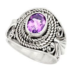 Clearance Sale- 925 silver 2.11cts natural purple amethyst solitaire ring jewelry size 6 d36084