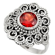 Clearance Sale- 2.82cts natural red garnet 925 sterling silver solitaire ring size 8 d36086