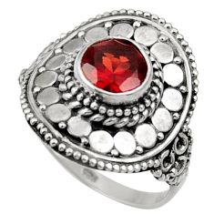 Clearance Sale- 925 sterling silver 2.44cts natural red garnet solitaire ring size 8 d36090