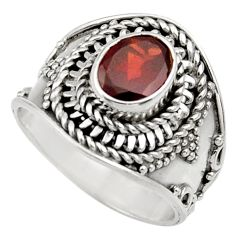 Clearance Sale- 2.19cts natural red garnet 925 sterling silver solitaire ring size 6 d36091