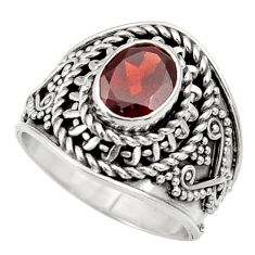 Clearance Sale- 2.01cts natural red garnet 925 sterling silver solitaire ring size 6 d36092