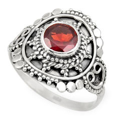 Clearance Sale- 2.35cts natural red garnet 925 sterling silver solitaire ring size 9 d36093