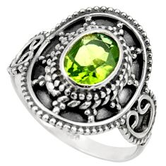 Clearance Sale- 925 silver 2.14cts natural green peridot solitaire ring jewelry size 7 d36095