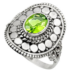 Clearance Sale- 2.11cts natural green peridot 925 silver solitaire ring jewelry size 7 d36097