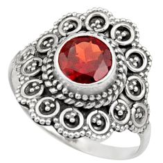Clearance Sale- 2.72cts natural red garnet 925 sterling silver solitaire ring size 8 d36100