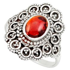 2.33cts natural red tourmaline 925 silver solitaire ring jewelry size 7 d36106