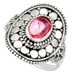 2.11cts natural pink tourmaline 925 silver solitaire ring jewelry size 7 d36110
