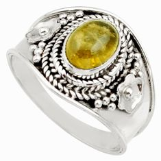2.01cts natural green tourmaline 925 silver solitaire ring jewelry size 7 d36111