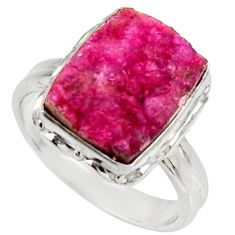 5.38cts natural pink cobalt druzy 925 sterling silver ring size 6.5 d36177