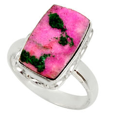 925 sterling silver 6.02cts natural pink cobalt druzy ring size 7.5 d36178