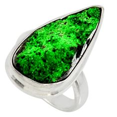 14.12cts natural green uvarovite garnet 925 sterling silver ring size 5 d36179