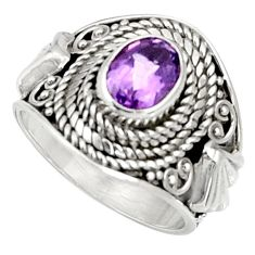 Clearance Sale- 925 silver 2.17cts natural purple amethyst solitaire ring jewelry size 7 d37184