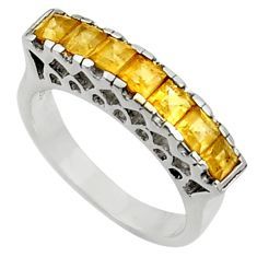 925 sterling silver 2.23cts natural yellow citrine ring jewelry size 6.5 d37458