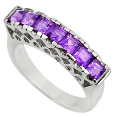 2.33cts natural purple amethyst 925 sterling silver ring jewelry size 6.5 d37460