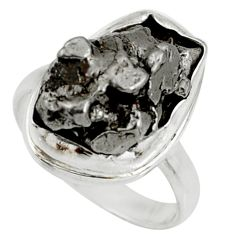 Clearance Sale- 18.18cts natural campo del cielo 925 silver solitaire ring size 7.5 d37676