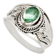 925 silver 1.94cts natural green tourmaline oval solitaire ring size 8.5 d38835