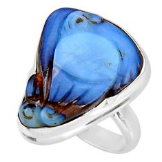 925 silver 15.02cts natural boulder opal carving solitaire ring size 7 d38847