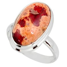 13.41cts natural mexican fire opal 925 silver solitaire ring size 10 d38885