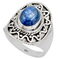 Clearance Sale- 925 sterling silver 4.38cts natural blue kyanite ring jewelry size 9.5 d38916