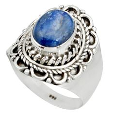 Clearance Sale- 925 sterling silver 4.38cts natural blue kyanite ring jewelry size 8.5 d38919