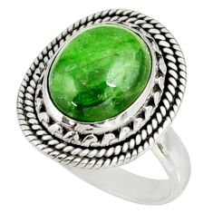 925 silver 5.46cts natural green chrome diopside solitaire ring size 6.5 d38938