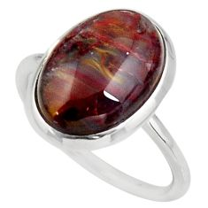 925 silver 5.22cts natural pietersite (african) solitaire ring size 6.5 d38965