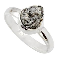 3.32cts natural certified diamond rough 925 sterling silver ring size 7 r16681