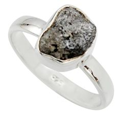 3.91cts natural certified diamond rough 925 sterling silver ring size 8 r16682