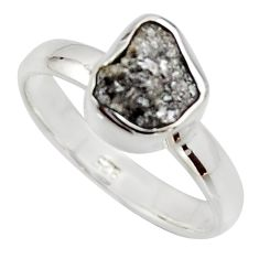 3.59cts natural certified diamond rough 925 sterling silver ring size 7 r16688