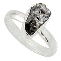 3.59cts natural certified diamond rough 925 sterling silver ring size 7 r16690