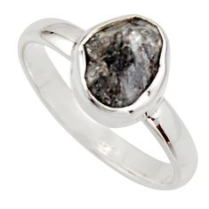 3.59cts natural certified diamond rough 925 sterling silver ring size 8 r16699