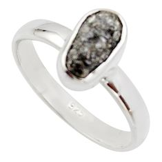 3.17cts natural diamond rough 925 sterling silver solitaire ring size 8 r16702