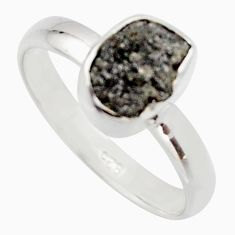 925 sterling silver 3.32cts natural diamond rough solitaire ring size 8 r16711