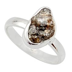 4.18cts natural diamond rough 925 sterling silver solitaire ring size 8 r16714