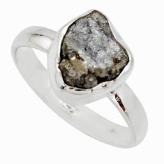 925 sterling silver 4.06cts natural diamond rough solitaire ring size 8 r16715