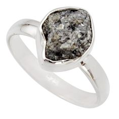 3.83cts natural diamond rough 925 sterling silver solitaire ring size 8 r16716