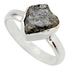 3.59cts natural diamond rough 925 sterling silver solitaire ring size 7 r16724