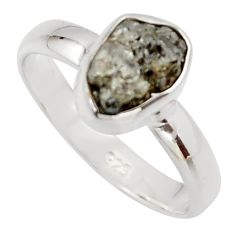 3.59cts natural diamond rough 925 sterling silver solitaire ring size 7 r16727