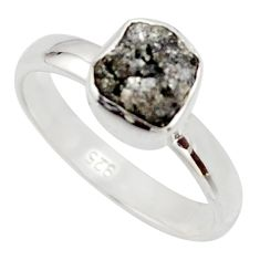 925 sterling silver 2.96cts natural diamond rough solitaire ring size 6 r16728