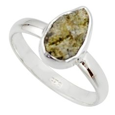 3.59cts natural diamond rough 925 sterling silver solitaire ring size 8 r16732