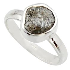 925 sterling silver 3.59cts natural diamond rough solitaire ring size 7 r16734