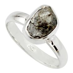925 sterling silver 3.83cts natural diamond rough solitaire ring size 7 r16738