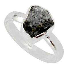 3.83cts natural diamond rough 925 sterling silver solitaire ring size 8 r16740