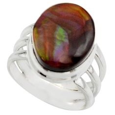 7.51cts natural mexican fire agate 925 silver solitaire ring size 6 r17053