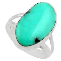9.85cts natural campitos turquoise 925 silver solitaire ring size 7.5 r17072