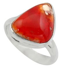 925 silver 10.41cts natural mexican fire opal fancy solitaire ring size 9 r17106