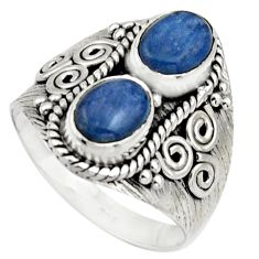 3.29cts natural blue kyanite 925 sterling silver ring jewelry size 8.5 r17506