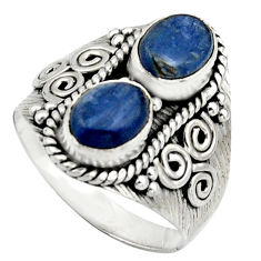 925 sterling silver 3.16cts natural blue kyanite ring jewelry size 8 r17507